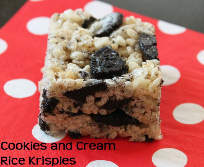 Cookies and Cream Rice Krispie Treats | Yummyy Food | Pinterest
