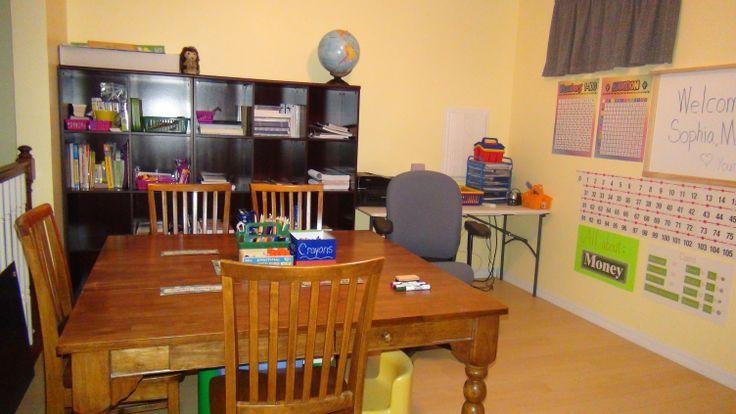 homeschool room set up organization homeschool room