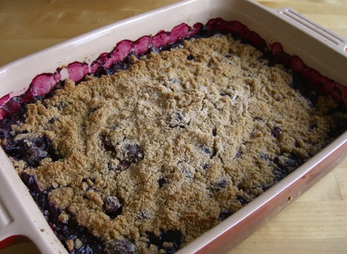 ... the granulated sugar. Pile the sugared fruit into a large gratin dish