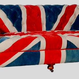 Union Jack sofa | If I Were an Interior Designer | Pinterest