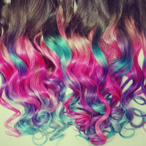 dip dye hair purple and pink - photo #25