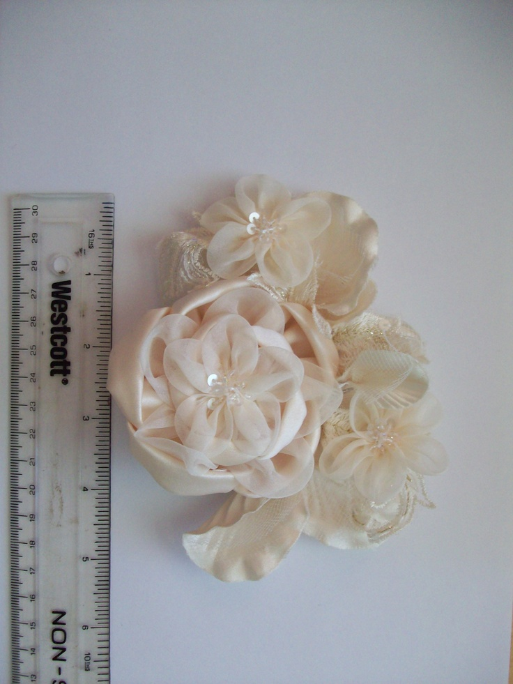 Rhianna Royale hairpiece with ruler for scale