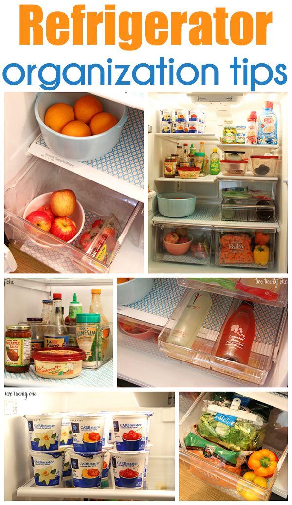 GREAT refrigerator organization tips!