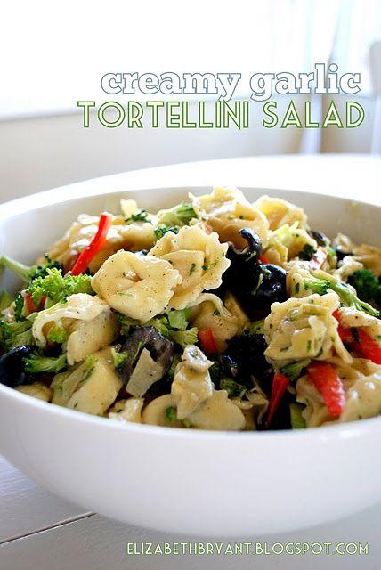 Creamy Garlic Tortellini Pasta Salad | First comes love, then comes m ...