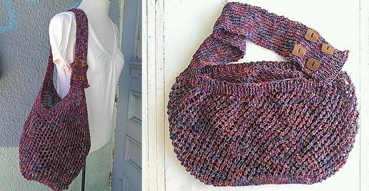 free crochet shopping bag Crochet Pinterest