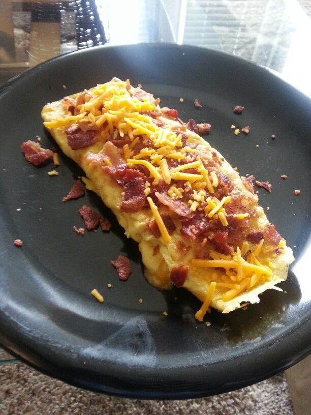 bacon and cheese omelette | Because I love food. | Pinterest