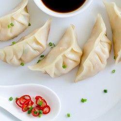 Shrimp and chive dumplings | Foods | Pinterest