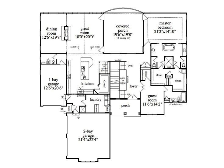 Bathroom closet layout home plans pinterest for Master bathroom and closet layouts