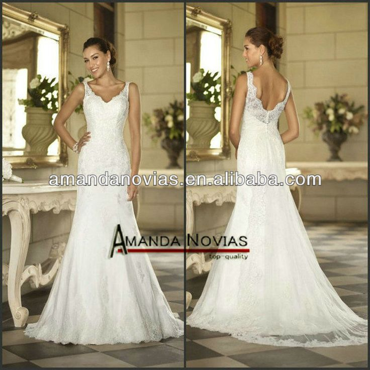 Open back wedding dress with
