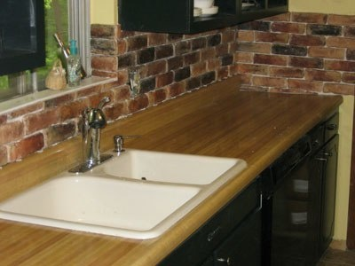 faux brick backsplash for the home pinterest