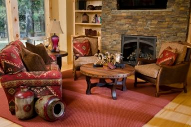 Rustic Casual Style Living Room Rustic Decorating Style Pinterest