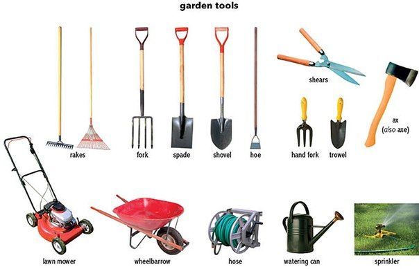 Garden tools vocabulary building pinterest for Gardening tools 94 game
