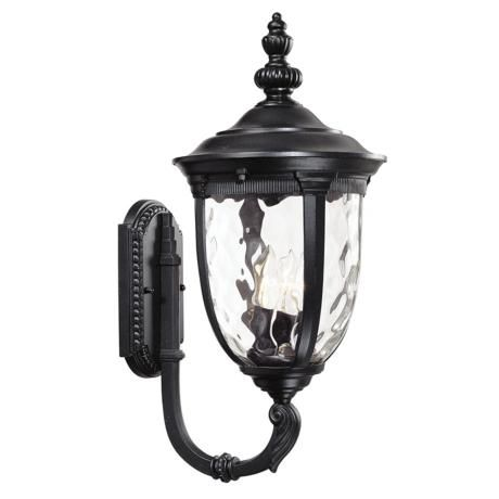 bellagio collection 21 high black outdoor wall light. Black Bedroom Furniture Sets. Home Design Ideas