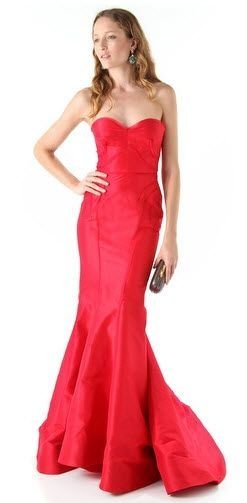 Revel red wedding gown