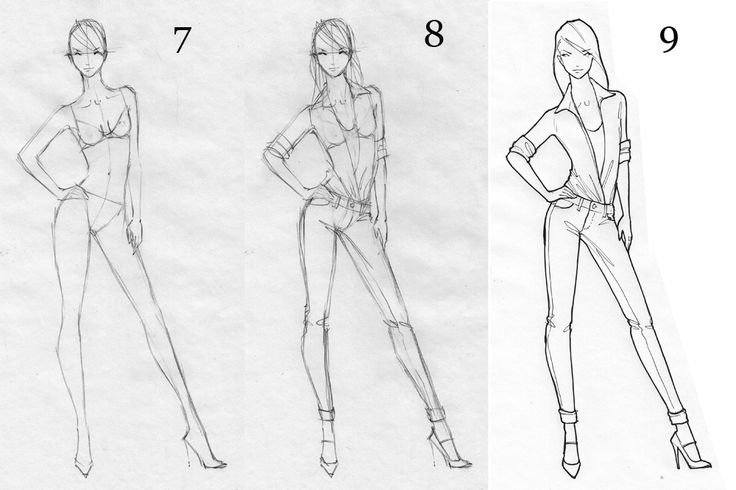 How to Draw Fashion Figures | Figure Drawing Tutorial ...