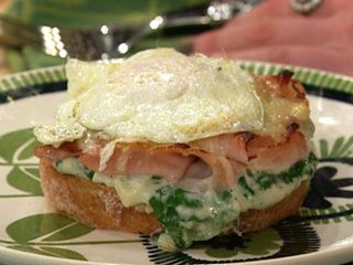 Croque Monsieur with Fresh Spinach   Breakfast and Brunch   Pinterest