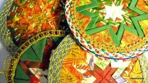 Quilted CD Ornaments