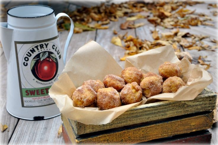 ... twist on donuts...no deep frying. Baked pumpkin donuts and cider