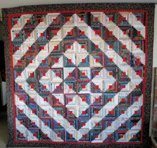 Possible Layout For A Log Cabin Quilt Log Cabin Quilts