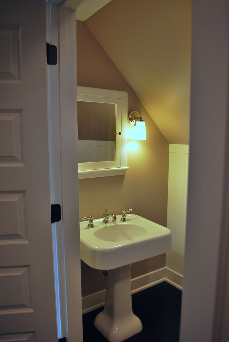 Attic bath my dream house pinterest for Bathroom and toilet designs