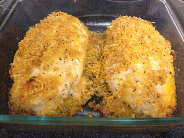 Garlic and lemon chicken stuffed with cheese #homemade