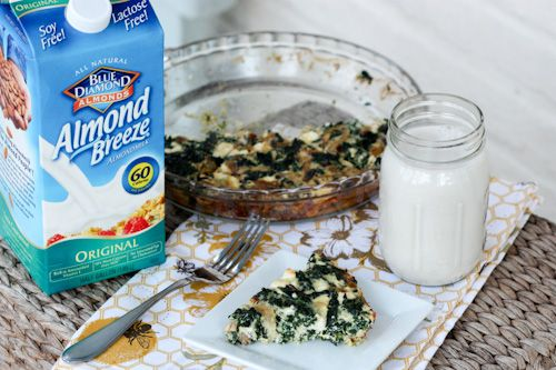 kale and # feta # quiche with almond breeze from brittany mullins ...