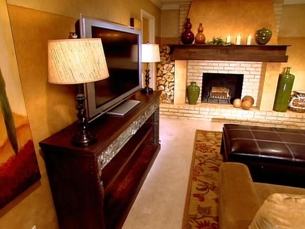 Tuscan Style Makeover With A Rustic Fireplace