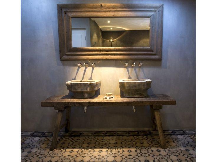 20170418&004011_Cement Verf Badkamer ~ waterafstotende verf stucco  bathroom  Pinterest