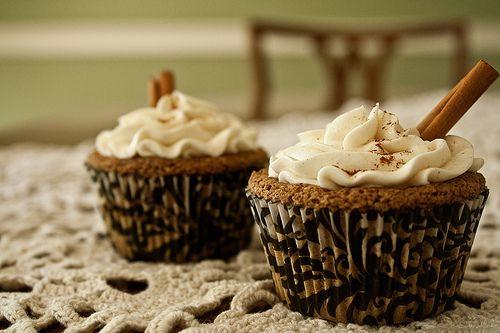Chai latte cupcakes | recipes | Pinterest