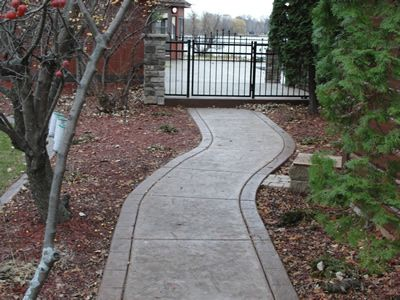 Stamped concrete path for the home pinterest - Stamped concrete walkway ideas ...