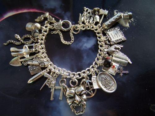 Protection charm bracelet supernatural dean sam jensen ackles gift