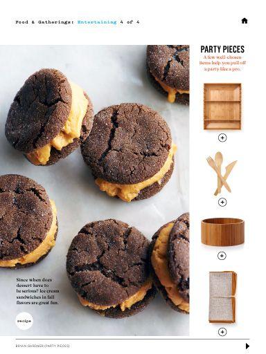 Pumpkin Gingerbread Ice Cream Sandwiches | Christmas | Pinterest