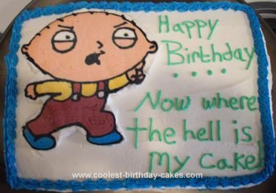 Cake: My friend is a huge fan of Family Guy and for her birthday ...