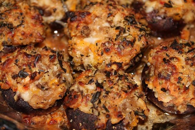 Easy Stuffed Mushroom recipe. | good food | Pinterest