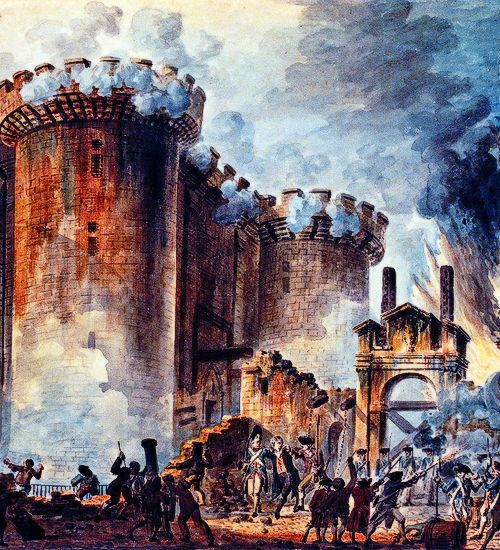 the bastille in paris was stormed on july 14 1789