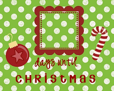 free christmas countdown printables 8x10 green red ornament candy cane