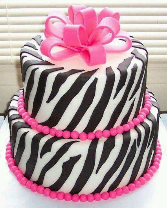Zebra cake! Cake Decorating Pinterest