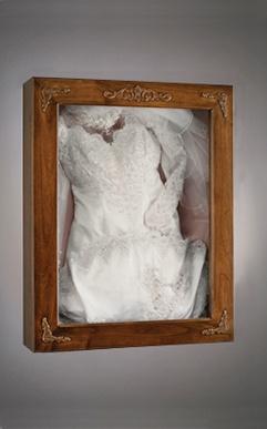 Display your wedding dress shadow box kathleen o 39 connor for Wedding dress shadow box