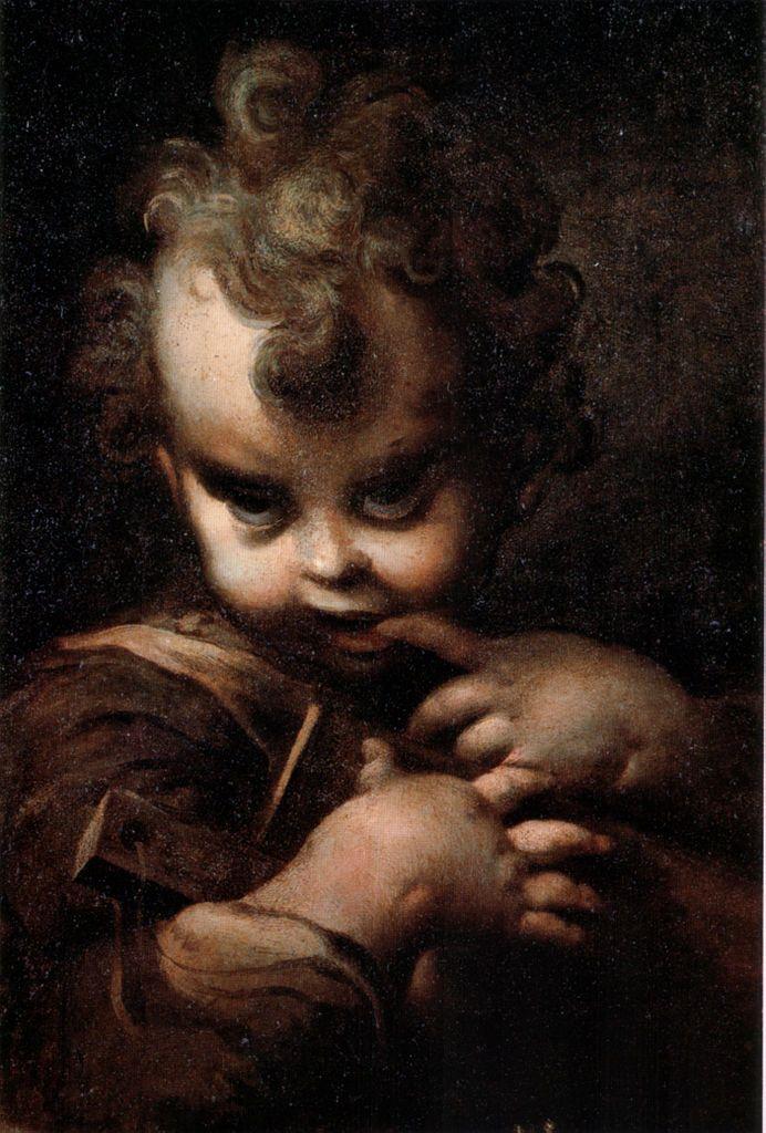 Parmigianino - Fanciullo con abbecedario 1520s-1530s