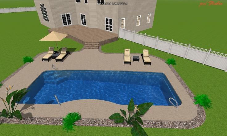 3d moroccan fiberglass pool design artistic 3d pool for Pool design 3d