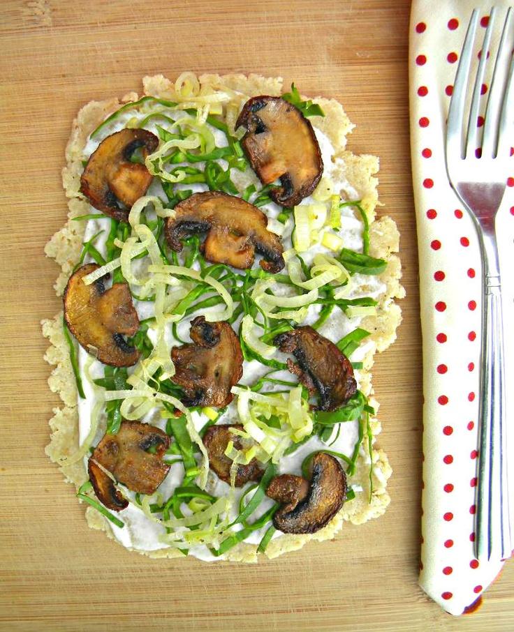 ADDICTED to VEGGIES: Mushroom, Leek & Spinach Tart
