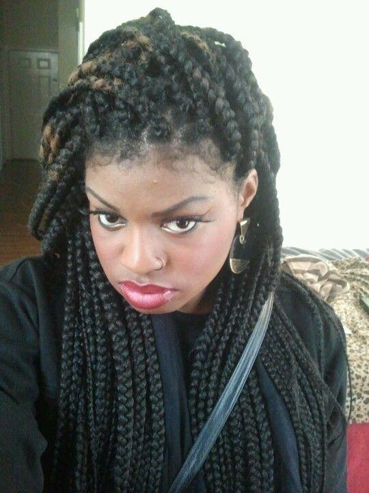 Via: Tumblr Jumbo box braids | Hairstyles | Pinterest