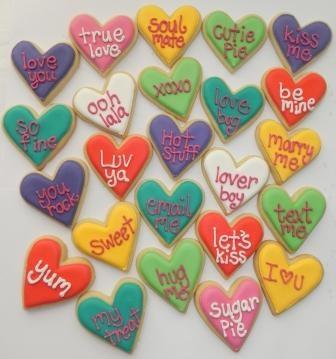 Valentine cookies - conversation hearts | Cookie Decorating Ideas | P ...