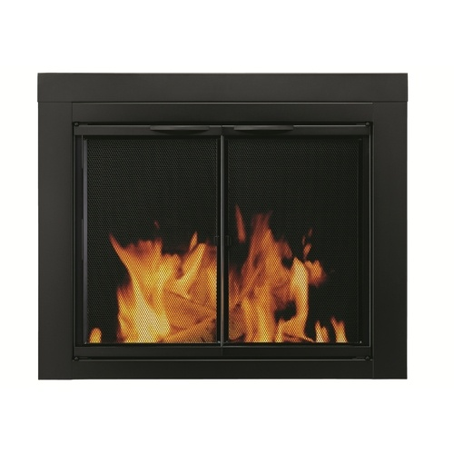 new black fireplace doors 249 lowes for the home