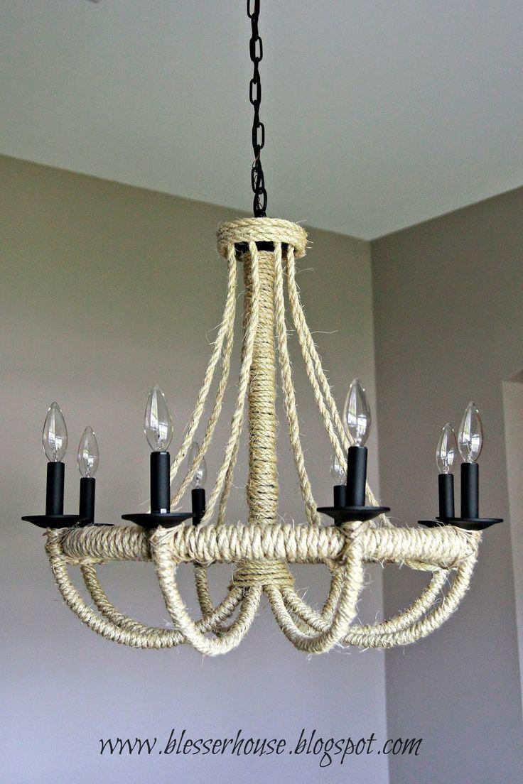 bless 39 er house diy restoration hardware knock off rope chandelier