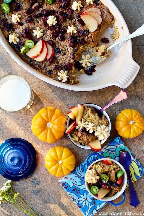 steel cut oats almond milk and pumpkin puree topped with vegan pumpkin ...