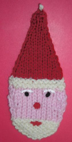 Santa Knitting Pattern Ornament