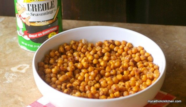 Spicy Oven Roasted Chickpeas | Recipe