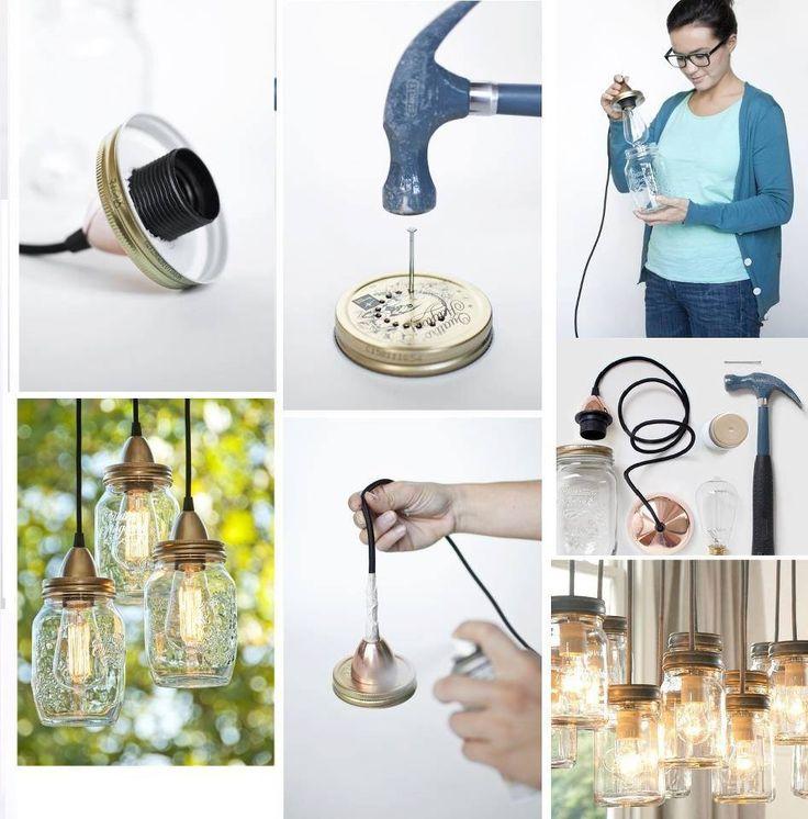 Fabriquer lampe avec pots