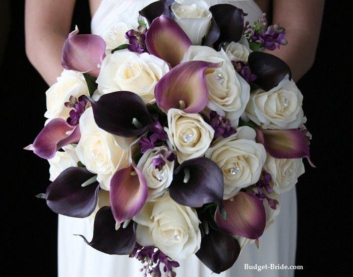 Eggplant Color Wedding Bouquet